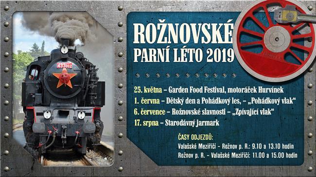 Rožnovské parní léto přináší nově Pohádkový i Zpívající vlak