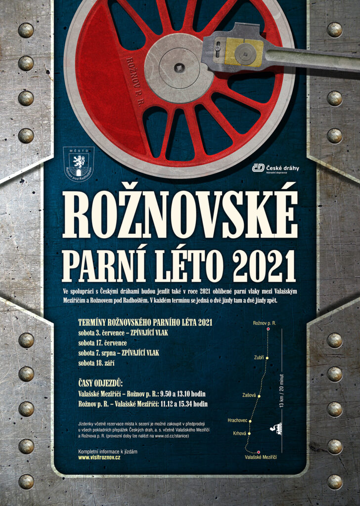 Rožnovské parní léto 2021 - plakát